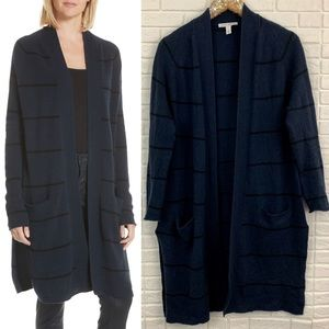 Autumn Cashmere striped duster cardigan open front